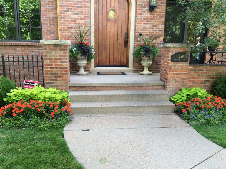 Potted Urns Highlight the Entryway