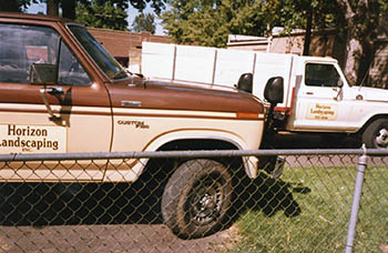 Horizon Landscaping Trucks in the Early Years