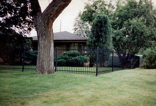 Straight Baluster Ornamental Iron Fence in Centennial