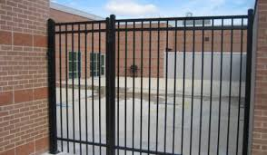 Straight Line Ornamental Iron and Gate